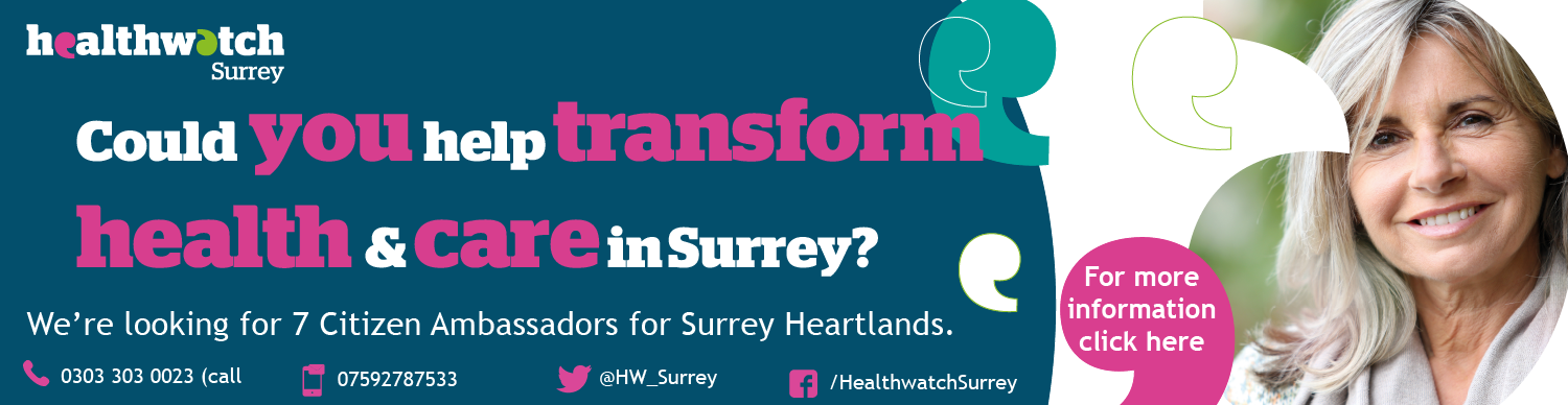 Could you help transform health and care in Surrey? We