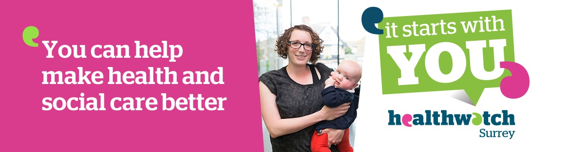 You can help make health and social care better. It starts with you. Image of a mum with baby